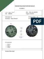 Laporan Resmi Praktikum Petrografi 6