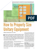 How to Properly Size Unitary Equipment