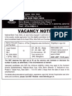 National Book Trust India Recruitment - Official Notification