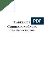 CPA Tabela de Correspondencia