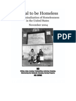 Illegal to be Homeless