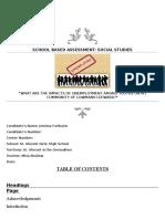 Social Studies Sba (1)