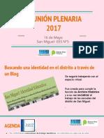 Plenaria 16 de Mayo 2017