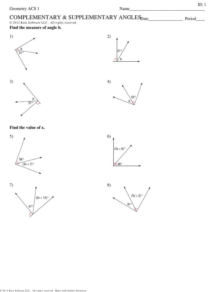 Comp And Supp Hw Geometric Measurement Elementary Geometry