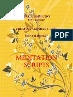 Meditation Scripts