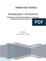 Trabajo Distribución de Variables Aleatorias Continuas