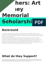panthers- art rooney memorial scholarship