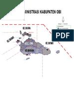Peta Administrasi Kabupaten Obi