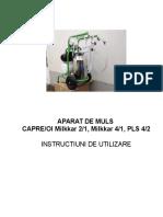 Manual Sezer Milking Machine
