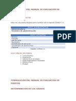 Formulación Del Manual de Evaluación de Puestos