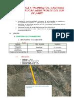 Visita Tecnica a Yacimientos y Mineria Artesanal