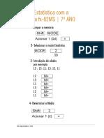 Estatística Com a Casio FX - 7.º Ano. Jorge Geraldes