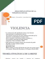 Teorías Explicativas de la Violencia Social