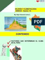 Sesion 12 - Factores Determinan El Clima en El Peru
