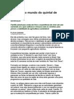 Alimentação - Mudando o mundo do quintal de casa - Flávia Gianini - alimentos