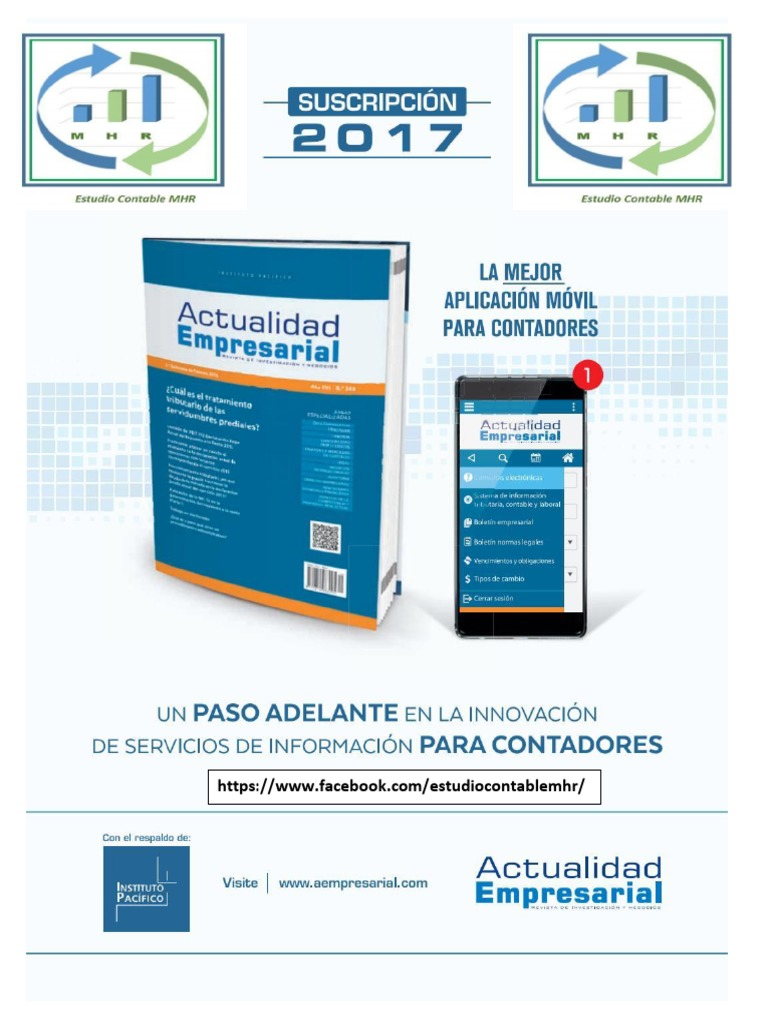 Revista de Act. Empresarial 2da Quincena de Abril 2017