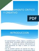 El Pensamiento Critico y Creativo