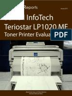 Seiko Infotech Teriostar LP1020MF Toner Printer
