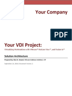 Example VDI Solution Architecture