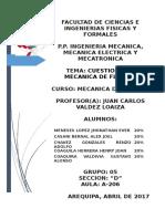 Grupo 05 Seccion D Cuestionario Mecanica de Fluidos