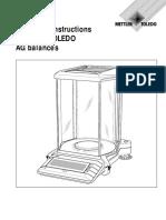 Manual de Servicio Balanz Modelo AG Balance