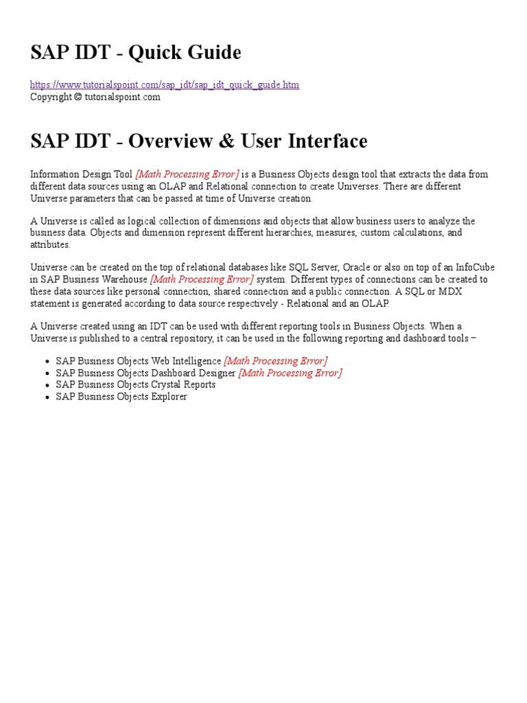 011 sap idt quick guide relational database metadata baditri Image collections