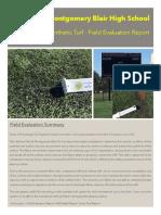 Montgomery Blair HS Field Evaluation Report-10.17.2016
