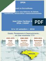 IPEA - 2016 - Exposição de José Celso Cardoso Jr. Sobre Diretrizes Para Uma Reforma Do Estado