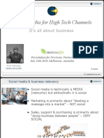 Social Media for High-Tech Partners