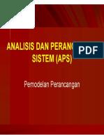 Analisis Perancangan Sistem - Pemodelan Kebutuhan