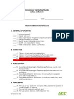 Abdominal Examination Checklist (2013)