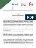 Informe Sombra. Violencia. Argentina. 2016