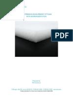 Compression of foam