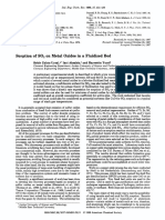 Sorption of SO2 on Metal Oxides in a Fluidized Bed