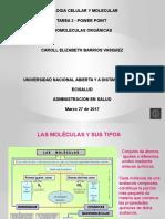BIOMOLECULAS ORGANICAS _UNAD