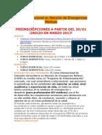 Curso Internacional en Atención de Emergencias Médicas
