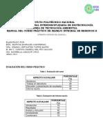 Manual de Prácticas Manejo Integral de Residuos Peligroso Primera Versión