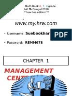Online Math Book-6, 7, 8 Grade- Teacher Guide