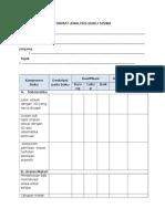 Format Analisis Buku Siswa Contoh