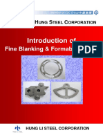 Introduction of Fine Blanking & Formability Steel