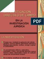 La Investigación Directa o de Campo Parte I