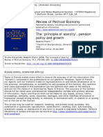 PIVETTI, M. (2006). the 'Principle of Scarcity', Pension Policy Ang Growth. Review of Political Economy, Vol. 18, Nº 3, 295 – 299.