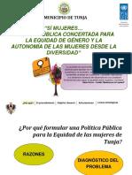 Present. Politica Genero Tunja. Diciembre 9.2013