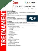 Prog Treinamento Autodesk FUSION CAM Fresamento 2-5 Eixos