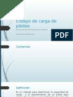 Ensayo de Carga de Pilotes