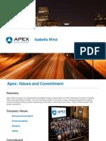 Apex Clean Energy - Isabella Wind presentation