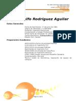 Curriculum Rodolfo Rodríguez IJL- 2015