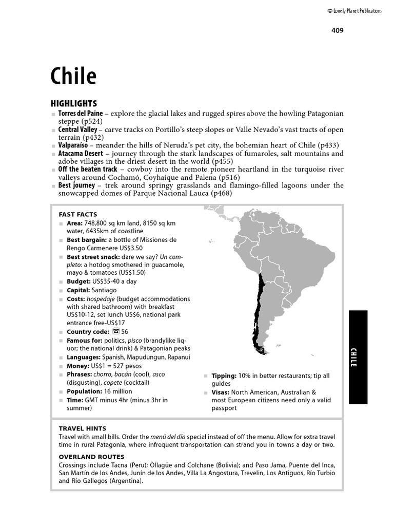 south-america-chile.pdf | Augusto Pinochet | Chile on