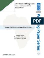 Africa Manufacturing Malaise UNDP