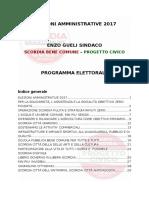 Programma Amministrative 2017 Gueli Scordia Bene Comune Sindaco Scordia